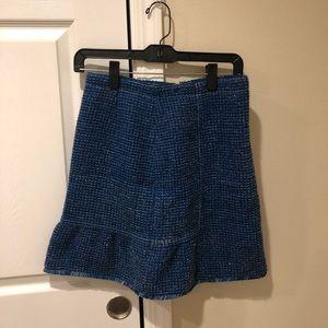 Sandro Blue Tweed Skirt (US Size 2)